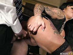 Huge tits slut is getting penetrated