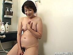 Aged Oriental Hottie In Hose Licks Ball And Receives Obese Twat Fucked