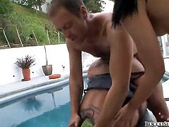 Tiffany Tyler and hard dicked dude Rocco Siffredi enjoy oral sex before anal sex