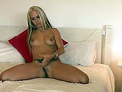 Carla Cox masturbates to orgasm in solo action