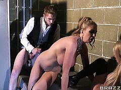 Georgie Lyall kills time fucking with hard cocked fuck buddy Danny D