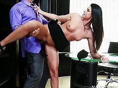 Brunette India Summer makes her sex dreams a come true with hard dicked dude