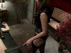 Maitresse Madeline  bound Up male inside bound And female domination Vid