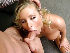 Samantha Saint spreads her pussy lips invitingly in steamy hardcore action