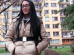 At first, this shy beautiful babe was hard to get, but money always talk, so she starts revealing parts of her fresh perfect body. Will he have enough money for more? Watch and see, how shy Anna Rose will...