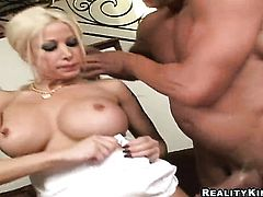 Blonde Gina Lynn demonstrates her body parts as she gets her eager rammed good and hard by horny as hell guy