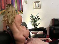 The lady is into femdom. She likes it when her huge ass is worshiped. Her pussy needs to be licked 1st by her slave before she pushes his ass on his nose.
