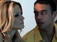 Brooke Banner makes dudes sturdy tool disappear in her mouth in sexual ecstasy