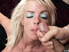 Warm exotic sex kitten cant stop sucking in crazy oral action with hard cocked fuck buddy