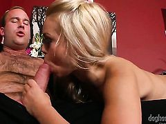 Janine Rose gets her many times used mouth banged again by horny man