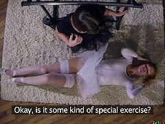 Two delicate dancers with perfect bodies are practicing their dance moves, until they feel the need for something more spicy. Click and enjoy the hot scene of two sexy ballerinas, discovering each other's body and sensations, that never felt before.