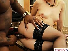 Blonde asian doll Rob Piper is curious about hard fucking with hot guy