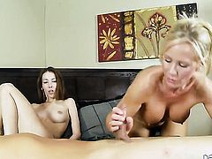 Jenna Justine gets her mouth attacked by dudes beefy erect pole