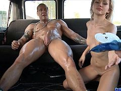 Skintight top on this temptress they fuck in the van