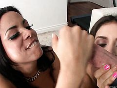 Charming latin hooker Jynx Maze feels good with sturdy schlong in her mouth