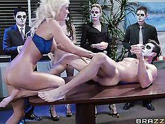Blonde Tommy Gunn  Will Powers with gigantic melons makes a dirty dream of never-ending anal sex a reality