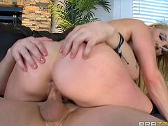 Ashley Fires is very frank with her son's friend, that she gives him pussy to eat. She does not mind getting fingered and takes his cock in mouth. She allowed him to insert his dick deeply in her pussy, especially in cowgirl position. When Jessy is going in and out, she insert finger in her ass hole.