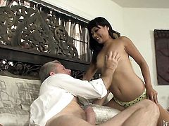 Yuki Mori demonstrates her naughty parts while getting shagged hard and deep by horny man