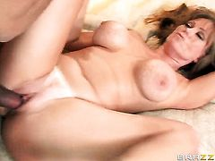 Milf Darla Crane with juicy breasts gags on guys throbbing fuck stick