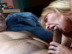 Even if she just hit her sixties, Nina, a skilled blonde granny, takes a dildo and masturbate hard. She moans and screams with pleasure and her old man comes to help her with his fat cock... Enjoy this dirty old slut.