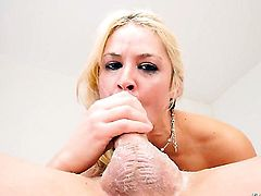 Blonde Sarah Vandella with juicy boobs getting boned hard and deep by guys hard sausage