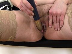 Josefa is a single mature woman. She needs a cock really bad, but until she finds the dick ready to pound her cunt, she enjoys her sex toy. Josefa loves to slowly touch her big tits and goes down to her wet pussy. Watch and enjoy!