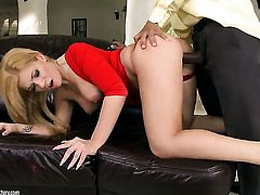 Blonde Aletta Ocean with gigantic hooters has some time to get some interracial pleasure with hot bang buddy