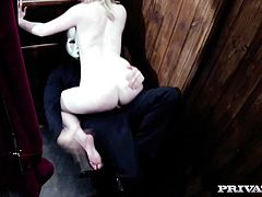 British Babe Satine Spark gets ruined in new I Confess! After confessing her lesbian sins, Satine is cleansed by Private's priest in the only way he knows how, a hard fuck special. This blonde whore gets to work with a sloppy sensual blowjob that has her eyes watering.
