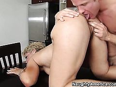 Blonde oriental with phat booty and hairless snatch needs nothing but jizz on her face to be happy
