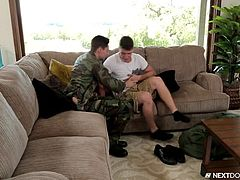 When Johnny Torque left Paul some time ago, Paul promised to wait for him. And today he returned from the army. It was really a happy meeting and they kissed each other strongly. For a long time it was life without sex so, they wanted to make up leeway. Watch passionate gay sex action with sloppy blowjob and crazy anal fucking.