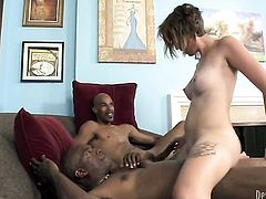 Justin Long takes guys meat stick doggystyle in steamy interracial action