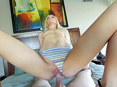 Visit official Panty Pops's HomepageSweetheart amazes with her precious blowjob as well as with her tight pussy, all in scenes of mind blowing POV porn combined with blowjob