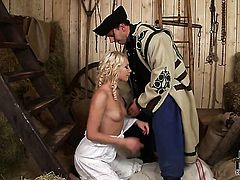 Stacked wench loves getting her throat slammed by hot dude