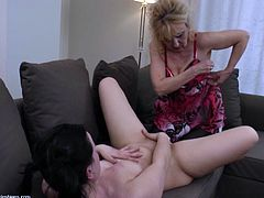 You might have seen several lesbian videos, but this one is different. Mature Blonde Maira, is exploring fresh Rochelle's body and also teaching her lesbian porn techniques. This is a perfect lesbian encounter, as you can see boob sucking, tongue kissing, pussy fingering and girl-on-girl sex.