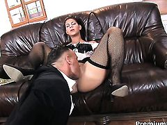 Inexperienced temptress Valentina Rossini gets anal satisfaction