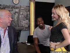Bob's oldest daughter Iris Rose gets fucked and creampied by big black cock...
