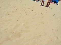 Naked Young Girls on Portugal Beach