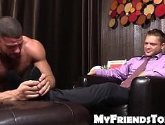 Tyrell loves his feet wet and adored by hairy Ricky