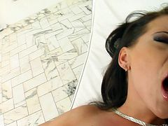 Jasmin's love tunnel is too big and one cock is not enough to satisfy her. Knowing this, I arranged two strong studs with huge dicks to show her, what the real fuck means. Except double penetration, this video has all the content you expect in a nasty threesome video.