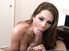 Allison Moore needs nothing but her mans hard worm in her mouth to get orgasm