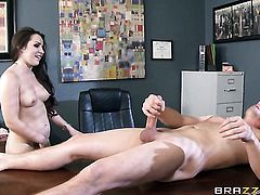 Milf Lola Foxx is ready to fuck from dusk till dawn with hot dude in interracial scene