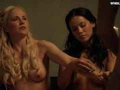 Lucy Lawless, Lesley-Ann Brandt, etc - Big Boobs - Spartacus Blood and Sand