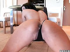 Brunette Angelina Castro with juicy butt is the one hard dicked dude loves to fuck