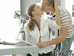Flexible teen hd Carre seduced by classmate