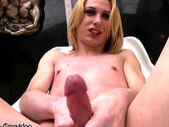 Isabella is sleek and slender blonde shemale that loves to dress up sexy just so she can have the fun of doing a striptease for the camera. This tranny babe is for sure a lovely sight in her...