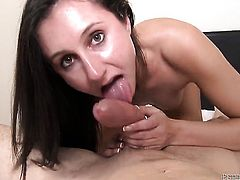 Domenic Kane has oral sex of her lifetime with hard cocked guy