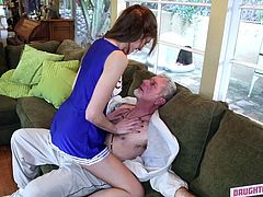 My best friend Alexa, said, that she sexually aroused by my daddy and wanted his dick badly. But caring about me, she offered to swap our fathers, to share the pleasure. I liked this gray haired guy not really, but my pussy was already itching and his cock was already hard, so we were not going to lose our time...