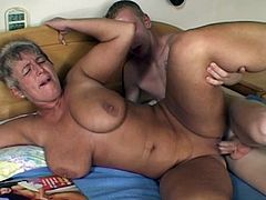 CHUBBY MATURE RUSSIAN MOM CAUGHT SON