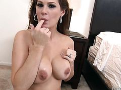 Allison Moore offers her totally fuckable mouth to hard dicked guy
