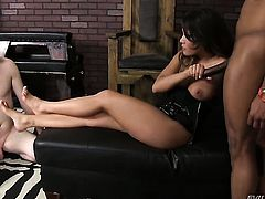 Exotic Mena Li gets her mouth stretched by dudes sturdy schlong